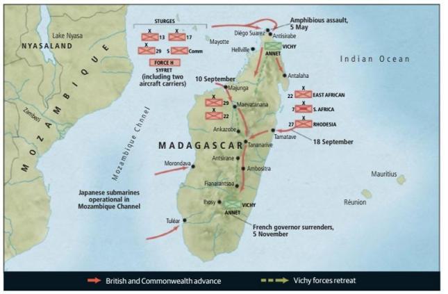 Resultado de imagen de mapa de Madagascar 1942 imagenes
