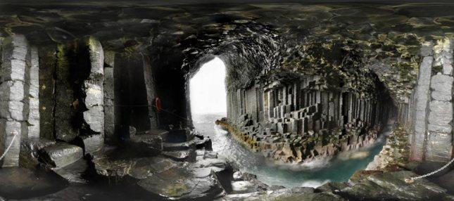 Resultado de imagen de gruta fingal escocia   imagenes